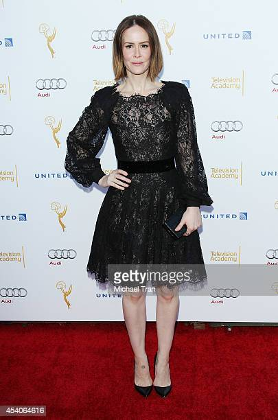 Sarah Paulson arrives at the Television Academy Performers Nominee Reception for The 66th Emmy Awards held at Spectra by Wolfgang Puck at the Pacific...