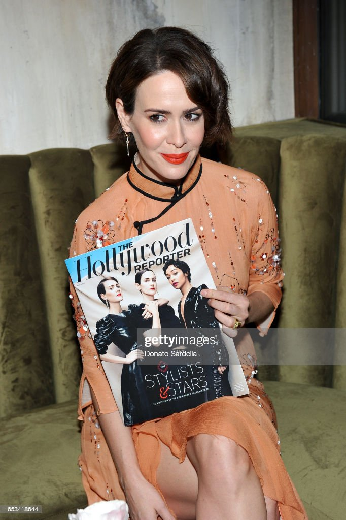 Sarah Paulson at the Power Stylists Dinner, hosted by The Hollywood Reporter and Jimmy Choo, on March 14, 2017 in West Hollywood, California.