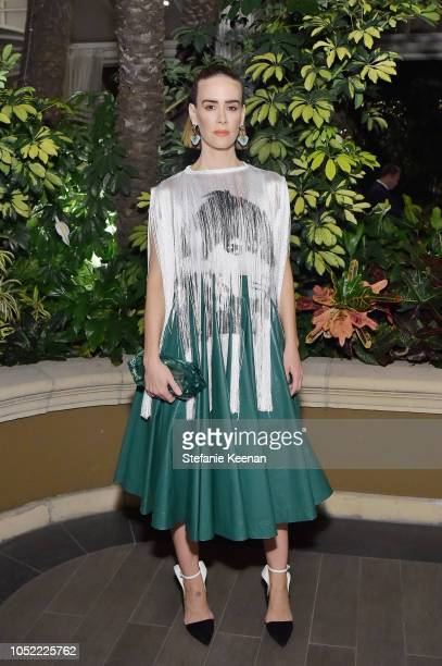 Sarah Paulson attends ELLE's 25th Annual Women In Hollywood Celebration presented by L'Oreal Paris Hearts On Fire and CALVIN KLEIN at Four Seasons...