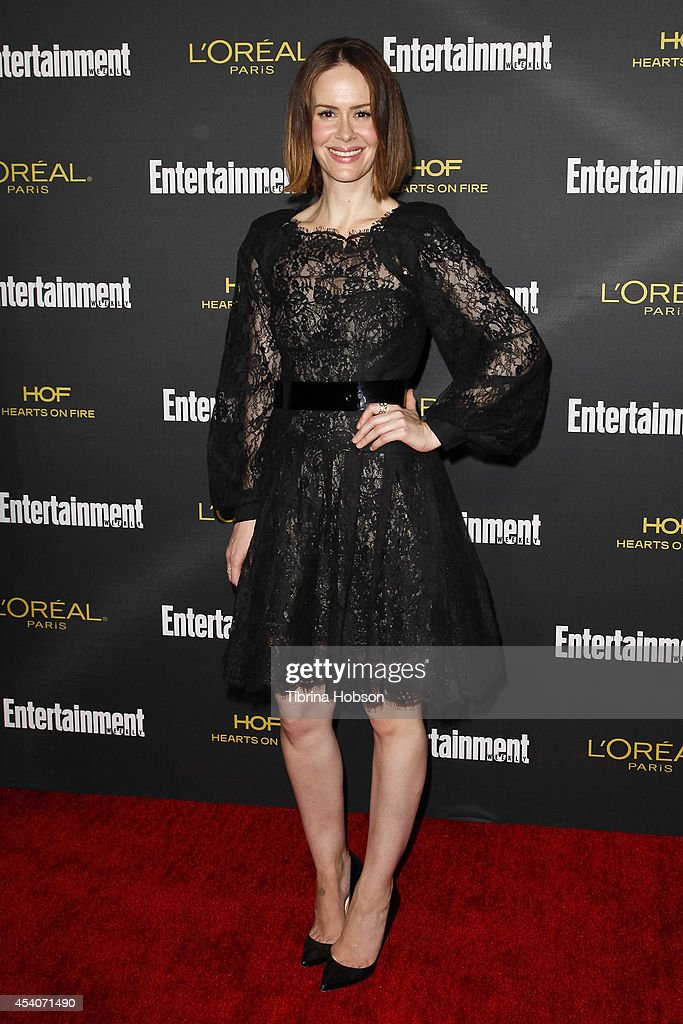 Sarah Paulson attends Entertainment Weekly's Pre-Emmy party at Fig & Olive Melrose Place on August 23, 2014 in West Hollywood, California.