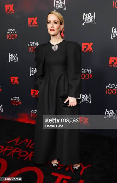 """Sarah Paulson attends FX's """"American Horror Story"""" 100th Episode Celebration at Hollywood Forever on October 26, 2019 in Hollywood, California."""