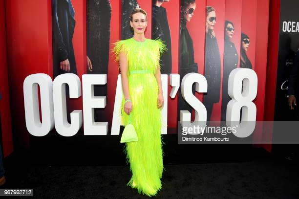 Sarah Paulson attends Ocean's 8 World Premiere at Alice Tully Hall on June 5 2018 in New York City