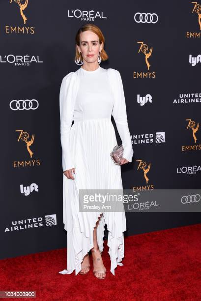 Sarah Paulson attends Television Academy Honors Emmy Nominated Performers Arrivals at Wallis Annenberg Center for the Performing Arts on September 15...