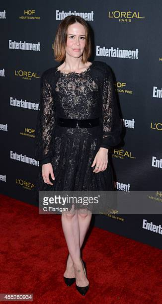Sarah Paulson attends the 2014 Entertainment Weekly PreEmmy Party at Fig Olive Melrose Place on August 23 2014 in West Hollywood California