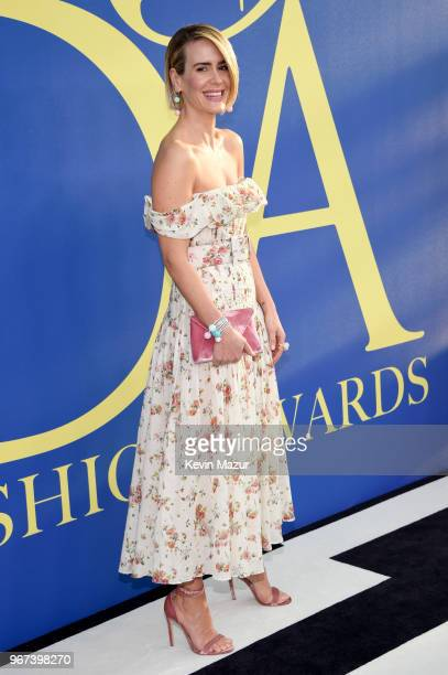 Sarah Paulson attends the 2018 CFDA Fashion Awards at Brooklyn Museum on June 4 2018 in New York City