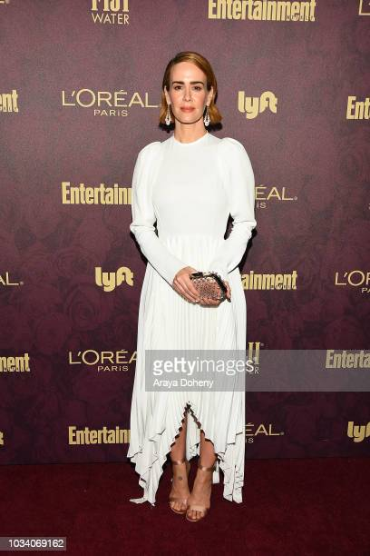 Sarah Paulson attends the 2018 PreEmmy Party hosted by Entertainment Weekly and L'Oreal Paris at Sunset Tower Hotel on September 15 2018 in West...