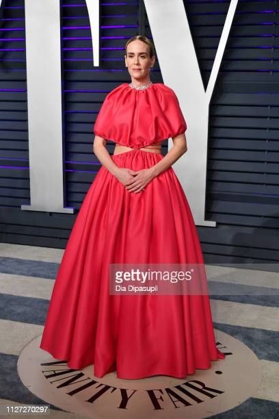 Sarah Paulson attends the 2019 Vanity Fair Oscar Party hosted by Radhika Jones at Wallis Annenberg Center for the Performing Arts on February 24 2019...