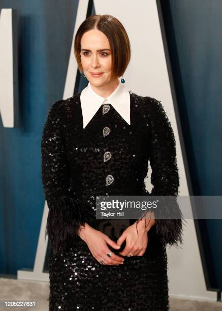 Sarah Paulson attends the 2020 Vanity Fair Oscar Party at Wallis Annenberg Center for the Performing Arts on February 9, 2020 in Beverly Hills,...