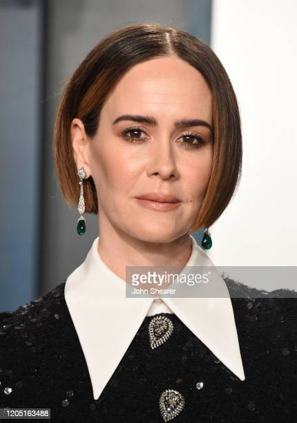 Sarah Paulson attends the 2020 Vanity Fair Oscar Party hosted by Radhika Jones at Wallis Annenberg Center for the Performing Arts on February 09,...