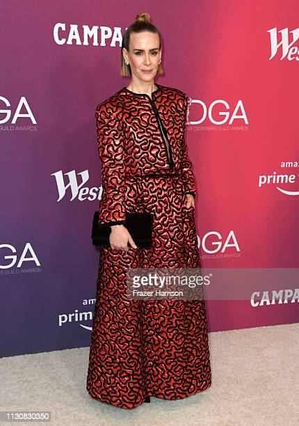 Sarah Paulson attends The 21st CDGA at The Beverly Hilton Hotel on February 19 2019 in Beverly Hills California