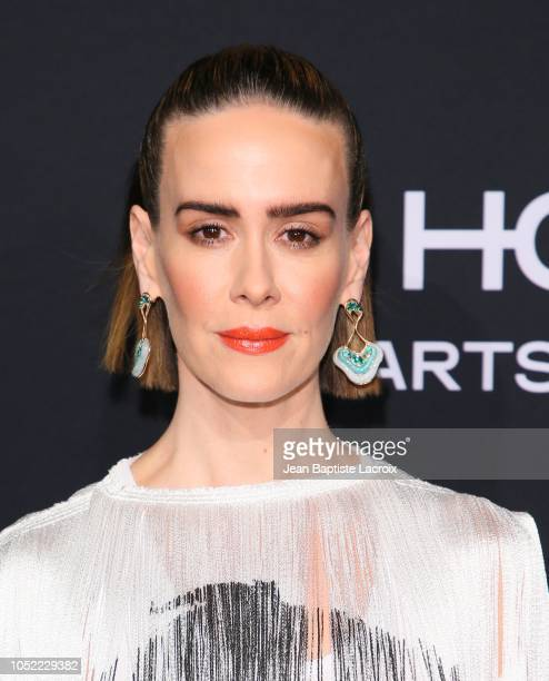 Sarah Paulson attends the 25th Annual ELLE Women in Hollywood Celebration at Four Seasons Hotel Los Angeles at Beverly Hills on October 15 2018 in...