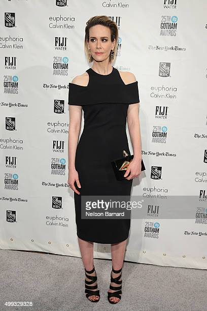 Sarah Paulson attends the 25th IFP Gotham Independent Film Awards cosponsored by FIJI Water at Cipriani Wall Street on November 30 2015 in New York...