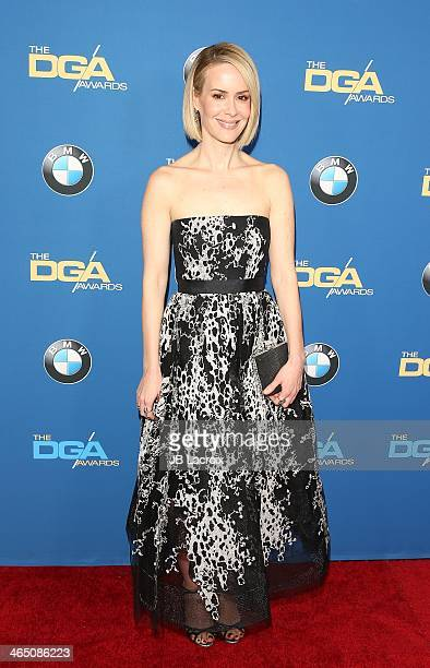 Sarah Paulson attends the 66th Annual Directors Guild Of America Awards held at the Hyatt Regency Century Plaza on January 25 2014 in Century City...