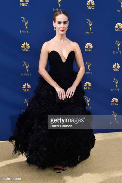 Sarah Paulson attends the 70th Emmy Awards at Microsoft Theater on September 17 2018 in Los Angeles California