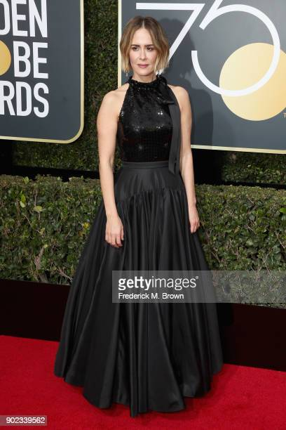 Sarah Paulson attends The 75th Annual Golden Globe Awards at The Beverly Hilton Hotel on January 7 2018 in Beverly Hills California