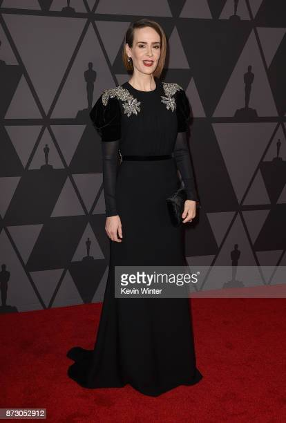 Sarah Paulson attends the Academy of Motion Picture Arts and Sciences' 9th Annual Governors Awards at The Ray Dolby Ballroom at Hollywood Highland...