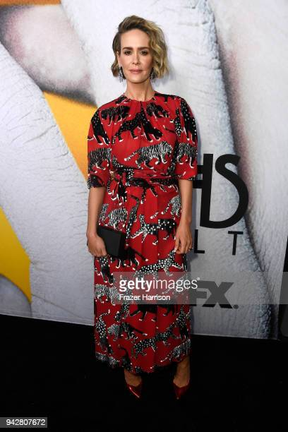 "Sarah Paulson attends the ""American Horror Story: Cult"" For Your Consideration Event at The WGA Theater on April 6, 2018 in Beverly Hills, California."
