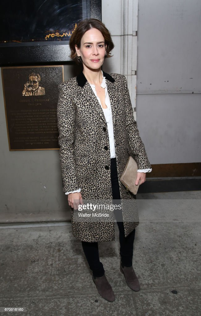 Sarah Paulson attends the Broadway Opening Night of 'Lillian Helman's The Little Foxes' at the Samuel J. Friedman Theatre on April 19, 2017 in New York City.
