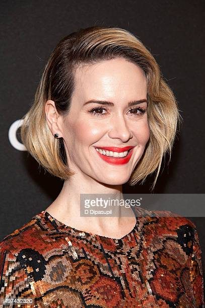 Sarah Paulson attends the Carol New York premiere at the Museum of Modern Art on November 16 2015 in New York City