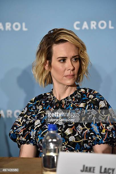 Sarah Paulson attends the CAROL New York Press Conference at Essex House Petit Salon on November 16 2015 in New York City