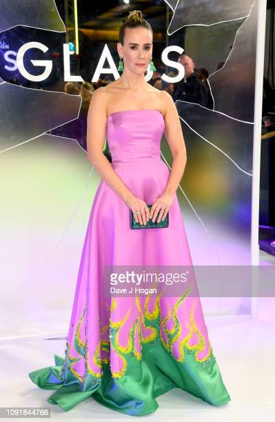 Sarah Paulson attends the European Premiere of Glass at The Curzon Mayfair on January 09 2019 in London England