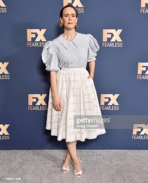 Sarah Paulson attends the FX Networks' Star Walk Winter Press Tour 2020 at The Langham Huntington Pasadena on January 09 2020 in Pasadena California
