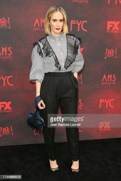 Sarah Paulson attends the FYC red carpet for FX's American Horror Story Apocalypse at NeueHouse Hollywood on May 18 2019 in Los Angeles California