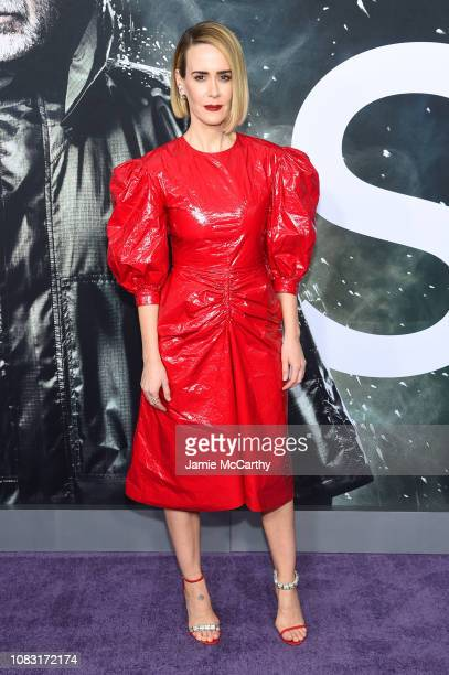 """Sarah Paulson attends the """"Glass"""" New York Premiere at SVA Theater on January 15, 2019 in New York City."""