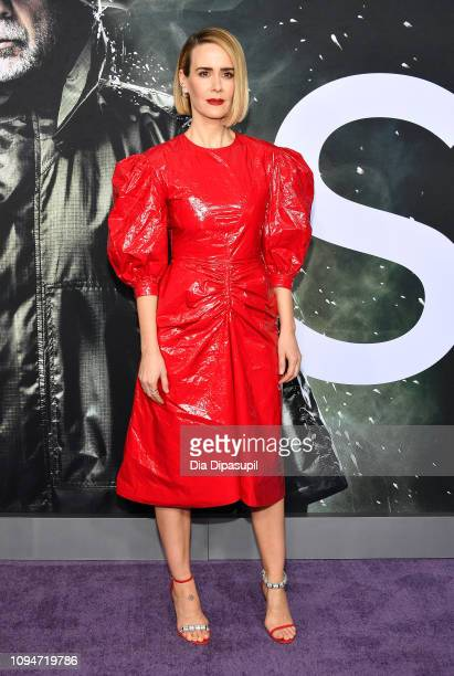 """Sarah Paulson attends the """"Glass"""" NY Premiere at SVA Theater on January 15, 2019 in New York City."""