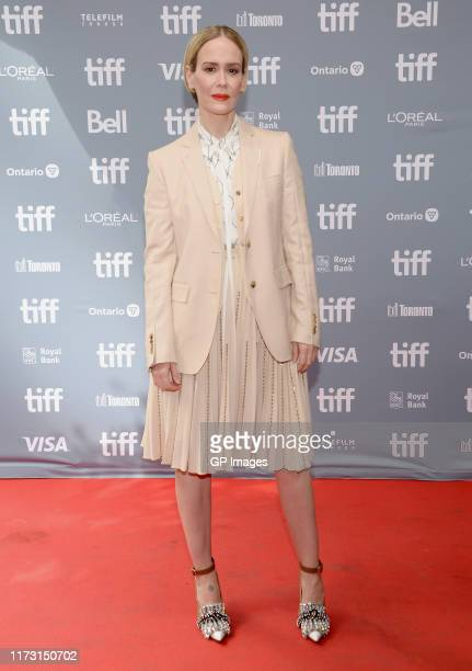 Sarah Paulson attends The Goldfinch press conference during the 2019 Toronto International Film Festival at TIFF Bell Lightbox on September 08 2019...