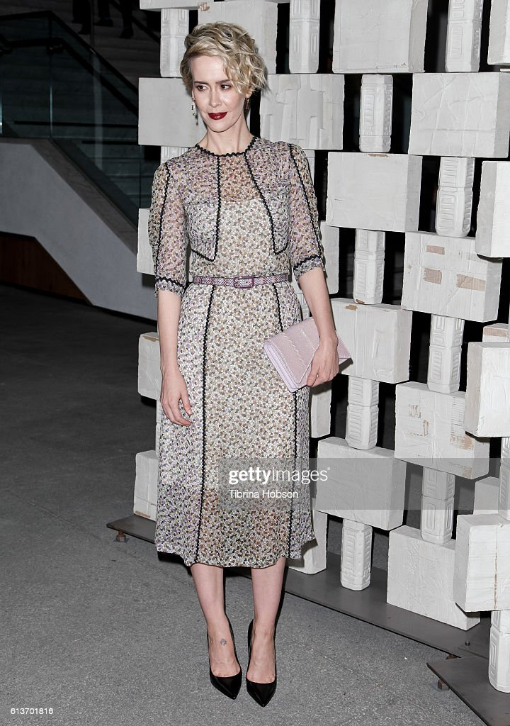 Sarah Paulson attends the Hammer Museum's 14th annual Gala In The Garden at Hammer Museum on October 8, 2016 in Westwood, California.