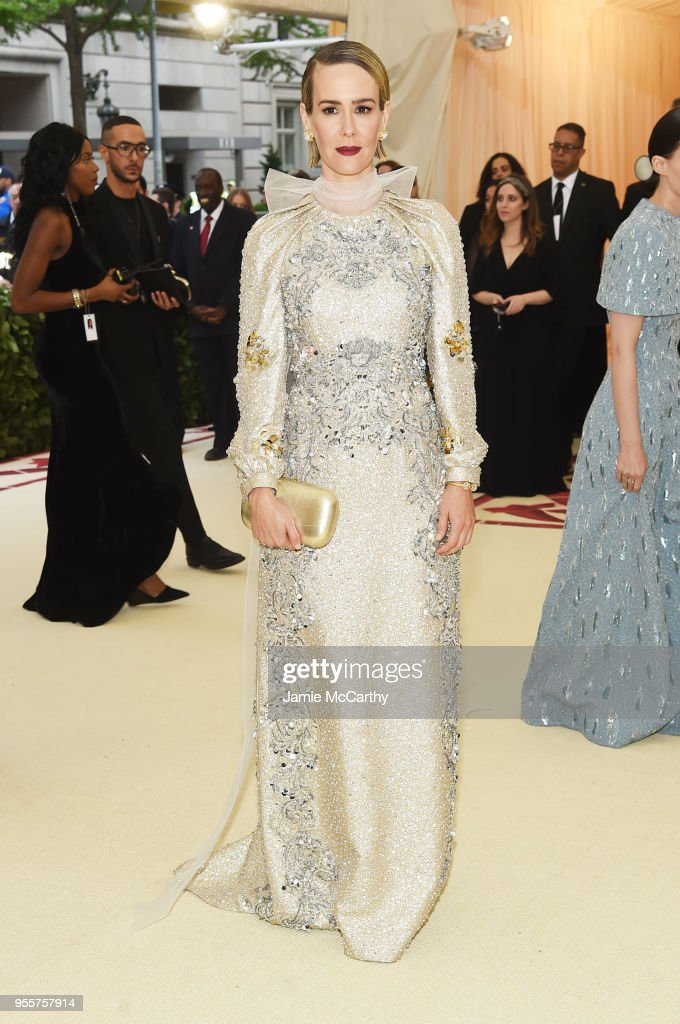 Sarah Paulson attends the Heavenly Bodies: Fashion & The Catholic Imagination Costume Institute Gala at The Metropolitan Museum of Art on May 7, 2018 in New York City.