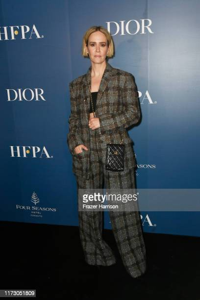 Sarah Paulson attends the HFPA/THR TIFF PARTY during the 2019 Toronto International Film Festival at Four Seasons Hotel on September 07 2019 in...