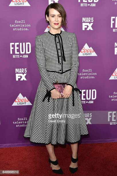 Sarah Paulson attends the Premiere Of FX Network's 'Feud Bette And Joan' Arrivals at Grauman's Chinese Theatre on March 1 2017 in Hollywood California