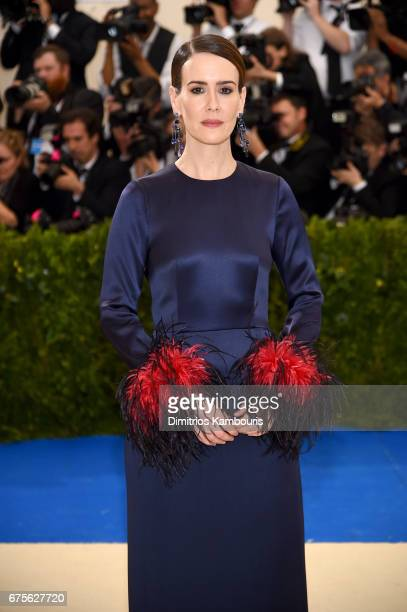 Sarah Paulson attends the 'Rei Kawakubo/Comme des Garcons Art Of The InBetween' Costume Institute Gala at Metropolitan Museum of Art on May 1 2017 in...