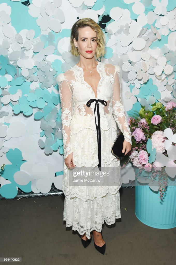 Sarah Paulson attends the Tiffany & Co. Paper Flowers event and Believe In Dreams campaign launch on May 3, 2018 in New York City.