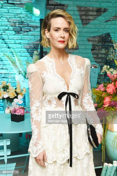 Sarah Paulson attends the Tiffany Co Paper Flowers event and Believe In Dreams campaign launch on May 3 2018 in New York City