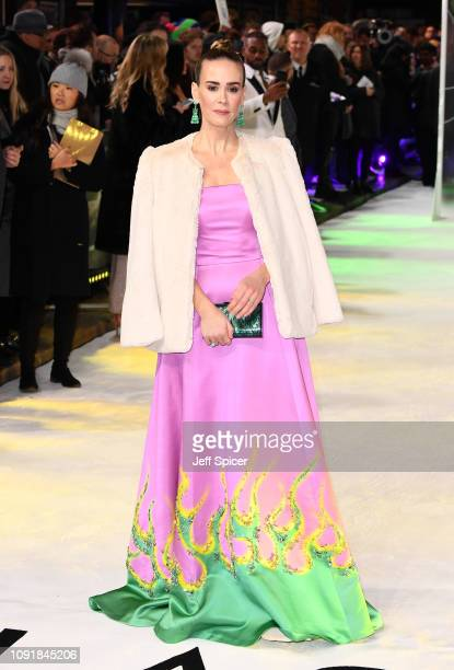 Sarah Paulson attends the UK Premiere of Glass at The Curzon Mayfair on January 09 2019 in London England