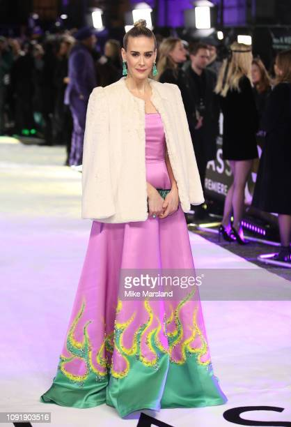 """Sarah Paulson attends the UK Premiere of """"Glass"""" at The Curzon Mayfair on January 09, 2019 in London, England."""