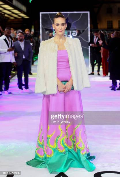 Sarah Paulson attends the UK Premiere of M Night Shyamalan's allnew comicbook thriller Glass at Curzon Cinema Mayfair on January 9 2019 in London...