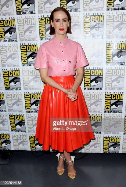"Sarah Paulson attends Universal Pictures' ""Glass"" and ""Halloween"" panels during Comic-Con International 2018 at San Diego Convention Center on July..."