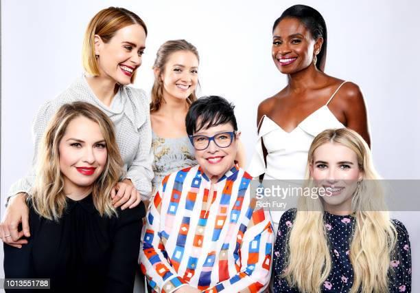 Sarah Paulson Billie Lourd Adina Porter Leslie Grossman Kathy Bates and Emma Roberts of FX's 'American Horror Story Apocalypse' pose for a portrait...