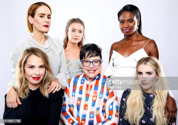 Sarah Paulson Billie Lourd Adina Porter Leslie Grossman Kathy Bates and Emma Roberts of FX's 'American Horror Story Apocalypse' pose for a portrait...