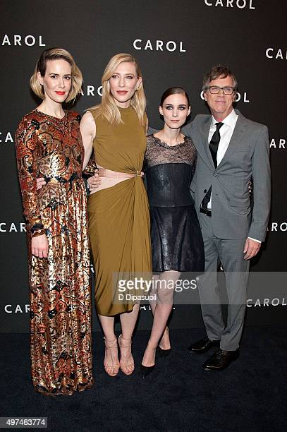Sarah Paulson Cate Blanchett Rooney Mara and director Todd Haynes attend the Carol New York premiere at the Museum of Modern Art on November 16 2015...
