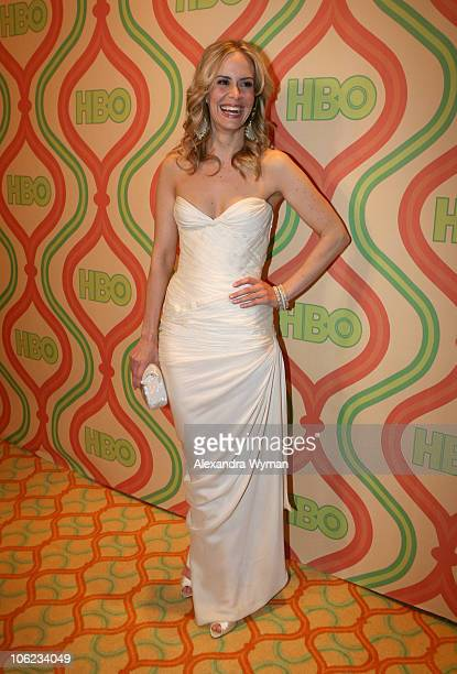 Sarah Paulson during HBO's 2007 Golden Globe After Party at Beverly Hilton in Beverly Hills California United States