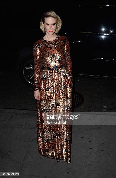 Sarah Paulson is seen in Midtown on November 16 2015 in New York City