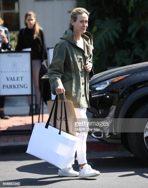 Sarah Paulson is seen on April 19 2018 in Los Angeles CA