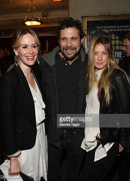 Sarah Paulson Jeremy Sisto and Addie Lane attend the opening night of The Break of Noon at Lucille Lortel Theatre on November 22 2010 in New York City