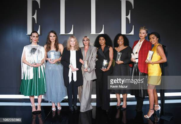 Sarah Paulson Keira Knightley Mia Farrow Lady Gaga Angela Bassett Shonda Rhimes Charlize Theron and Yara Shahidi attend ELLE's 25th Annual Women In...