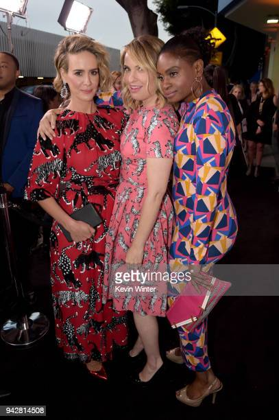 Sarah Paulson Leslie Grossman and Adina Porter attend the 'American Horror Story Cult' For Your Consideration Event at The WGA Theater on April 6...